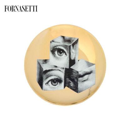 Picture of Fornasetti all plate Tema e Variazioni n°112 black/white/go