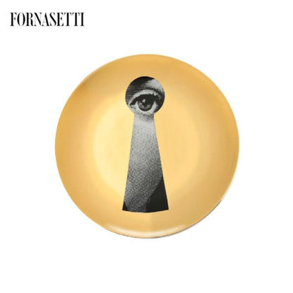 Picture of Fornasetti all plate Tema e Variazioni n°14 black/white/gol