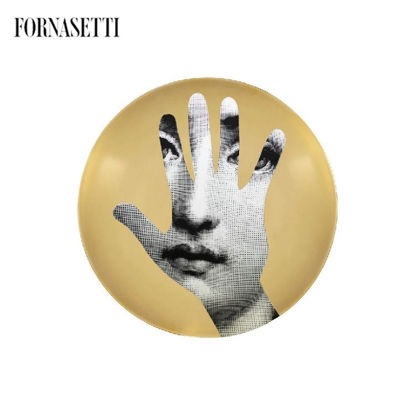 Picture of Fornasetti all plate Tema e Variazioni n°15 black/white/gol