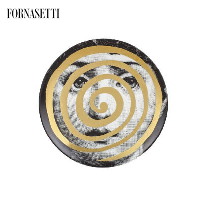 Picture of Fornasetti all plate Tema e Variazioni n°18 black/white/gol