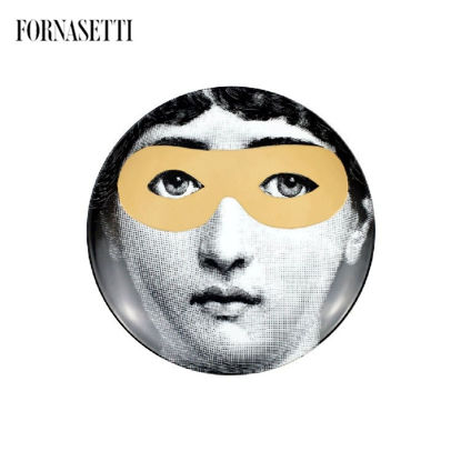 Picture of Fornasetti Wall plate Tema e Variazioni n°22 black/white/gold