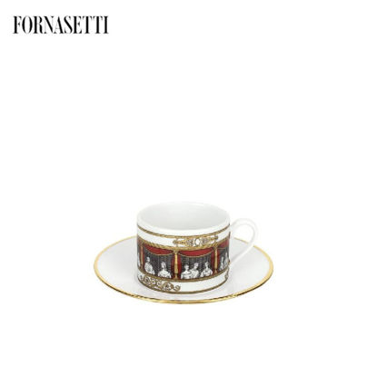 Picture of Fornasetti Set 6 tea cups Don Giovanni colour