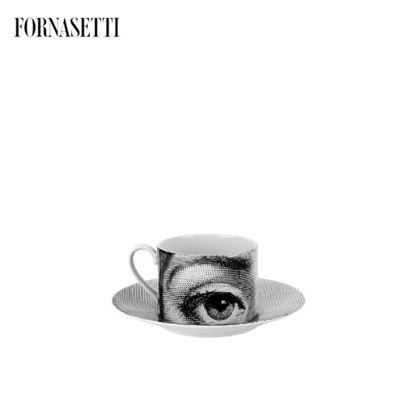 Picture of Fornasetti Tea cup Tema e Variazioni n°1 black/white