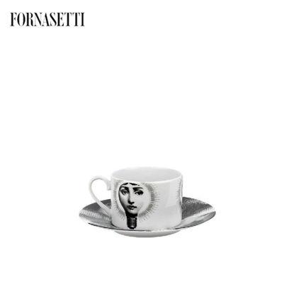 Picture of Fornasetti cup Tema e Variazioni 2005 Lampadina black/w