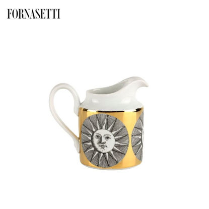 Picture of Fornasetti Milk jug Soli black/white/gold