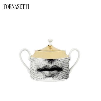 Picture of Fornasetti Sugar bowl Tema e Variazioni black/white/gold