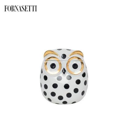 Picture of Fornasetti Jar Civetta Impallinata black/white/gold