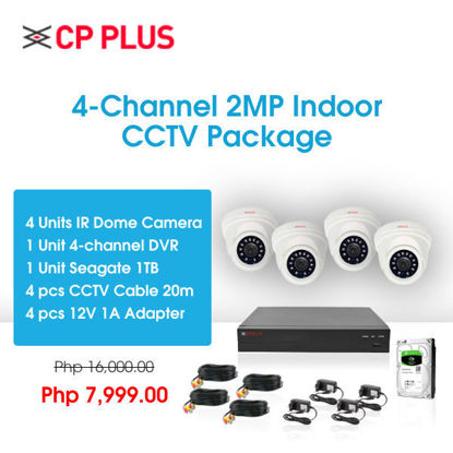 Picture of CP Plus 4-Channel 2MP Indoor CCTV Package