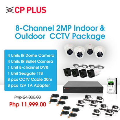 Picture of CP Plus 8-Channel 2MP Indoor & Outdoor CCTV Package