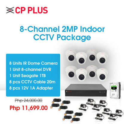 Picture of CP Plus 8-Channel 2MP Indoor CCTV Package
