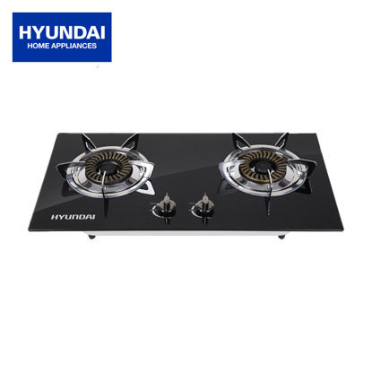 Picture of Hyundai Double Burner Tempered Glass Top Gas Stove/Built-in Hob HG-G401K