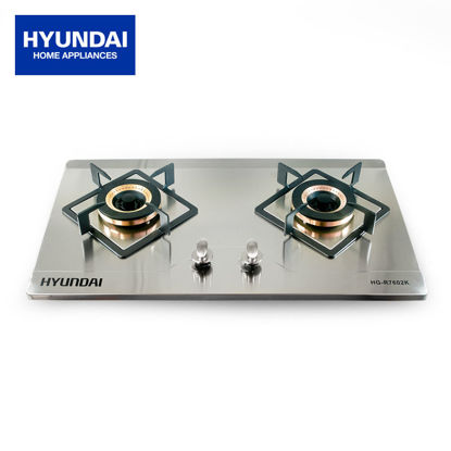 Picture of Hyundai Double Burner Stainless Steel Gas Stove HG-R7602K