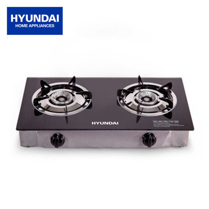 Picture of Hyundai Double Ceramic Burner Tempered Glass Gas Stove HG-J217SB