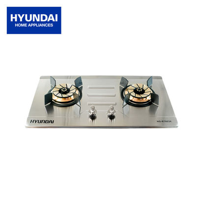 Picture of Hyundai Double Burner Stainless Steel Built in Gas Stove- HG-R7603K