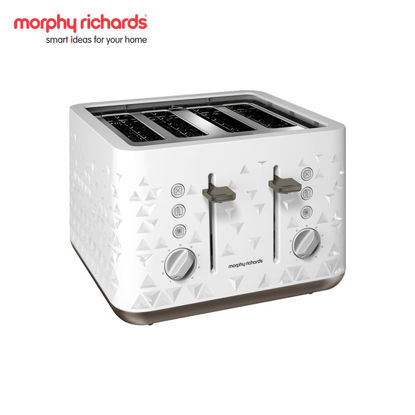 Picture of MORPHY RICHARDS Prism 4-Slice Toaster White