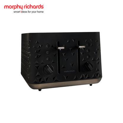 Picture of MORPHY RICHARDS Prism 4-Slice Toaster Black