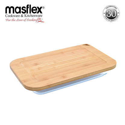 Picture of Masflex 3.0L Rect Glass Bakeware W/ Bamboo Lid