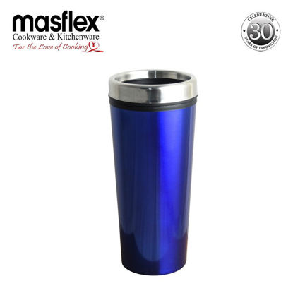 Picture of Masflex 460ml Double Wall Travel Mug - Dark Blue