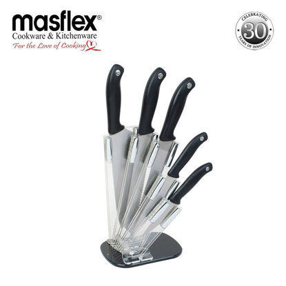 Picture of Masflex 6Pc. Knife Set W/ Folding Acrylic Block