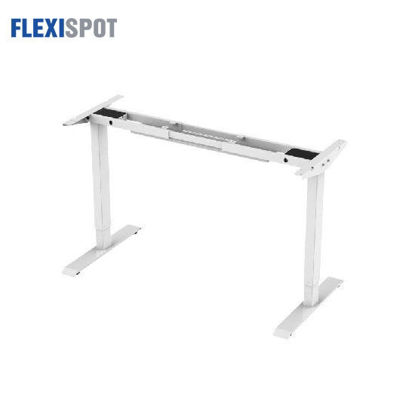 Picture of Flexispot Electric Height-Adjustable Desk 2-Stage 1 Motor E2E: Frame Only - White