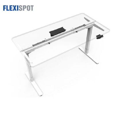 Picture of Flexispot Electric Height-Adjustable Desk 2-Stage 2 Motors E1: Frame Only - White