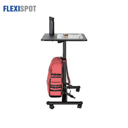 Picture of Flexispot Sit-Stand Mobile Laptop Desk Height Adjustable Cart MT3 - Black
