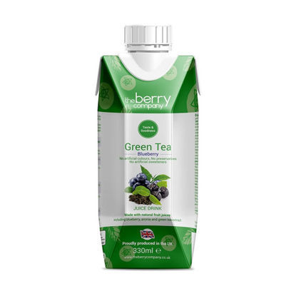 Picture of The Berry Company Green Tea Blueberry 330ml