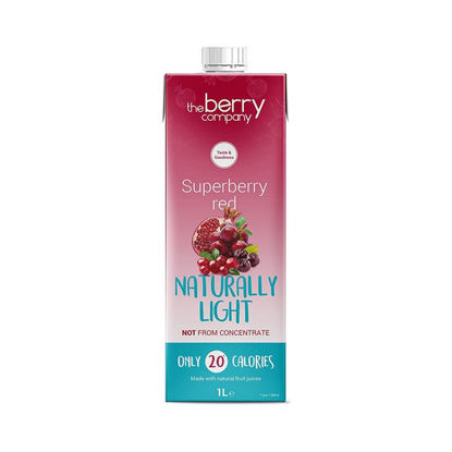 Picture of The Berry Company Naturally Light Superberries Red 1L