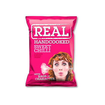 Picture of Real Handcooked Crisps Sweet Chilli (150g)