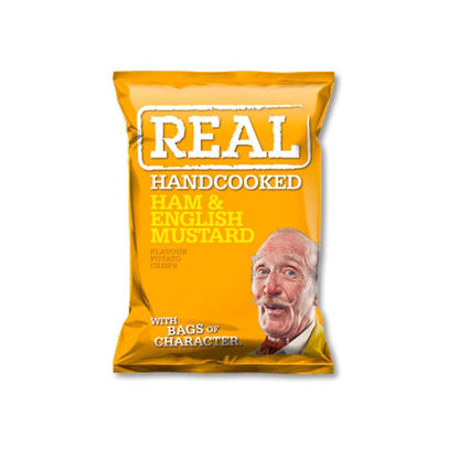 Picture of Real Handcooked Crisps Ham and English Mustard (150g)