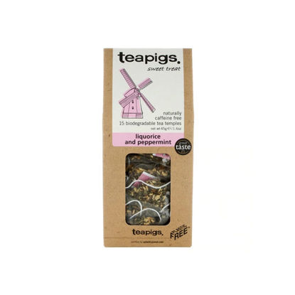 Picture of teapigs Liquorice and Peppermint 15 Temples (45g)