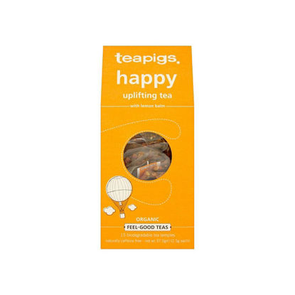 Picture of teapigs Organic Happy Uplifting Tea 15 Temples (37.5g)