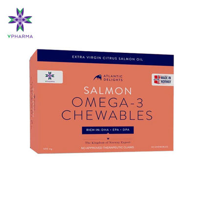 Picture of VPharma Atlantic Delights salmon omega 3 chewables (30 softgels/Box)