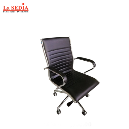 Picture of La Sedia Mid Back Office Chair - Black