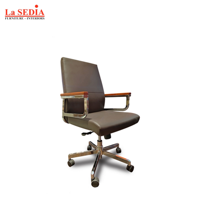 Picture of La Sedia Mid Back Office Chair - Coffee