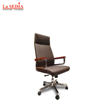 Picture of La Sedia High Back Office Chair - Coffee