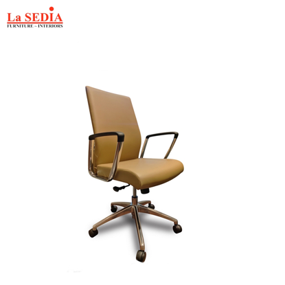 Picture of La Sedia Mid Back Office Chair - Tan