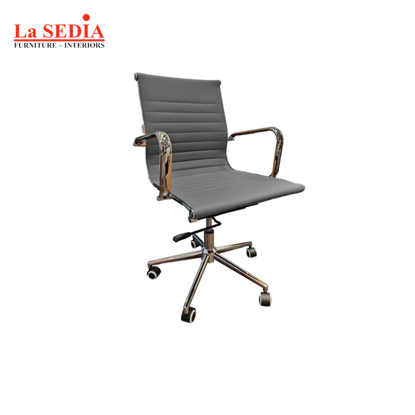 Picture of La Sedia Mid Back Office Chair - Gray