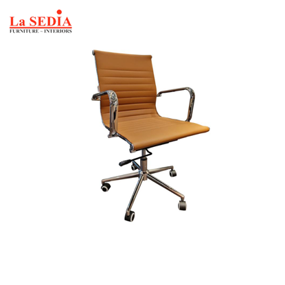 Picture of La Sedia Mid Back Office Chair - Brown