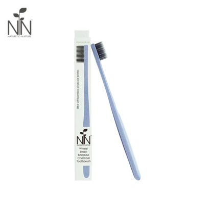 Picture of Nature to Nurture Wheat Straw Bamboo Charcoal Toothbrush, 4yrs & up, Blue