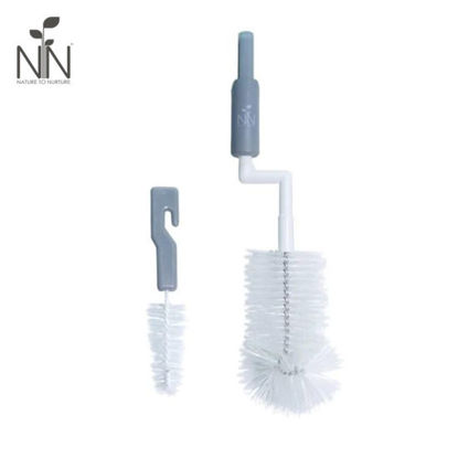 Picture of Nature to Nurture Rotary Bottle and Nipple Brush, Gray