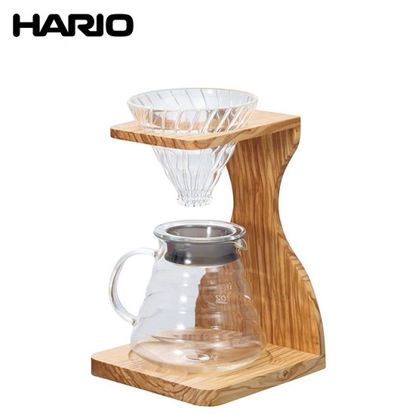Picture of Hario V60 Olive Wood Stand Set