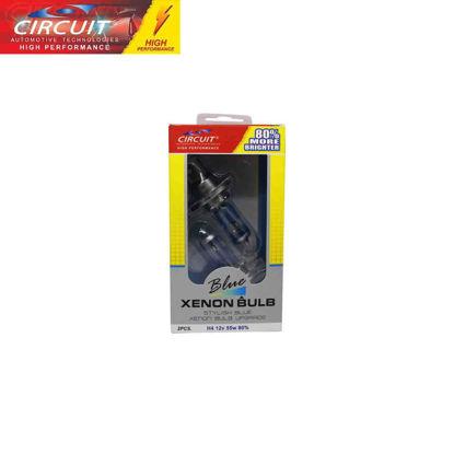 Picture of Circuit Xenon Bulb 80% H4 60/55W 12V P43T 80% Brighter 2 Pcs/Set