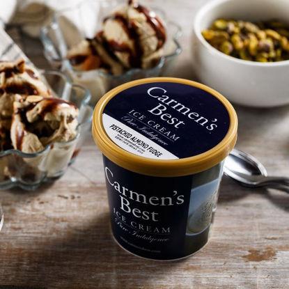 Picture of Carmen's Best Pistachio Almond Fudge - International Flavor (Pint)