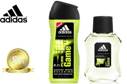 Picture of Adidas Pure Game Set (Eau de Toilette 100ml + Shower Gel 250ml)