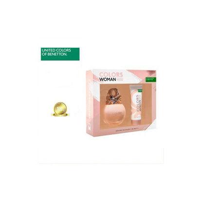 Picture of United Colors of Benetton Colors De Benetton Rose Set for Women (Eau De Toilette 80ml + Body Lotion 75ml)