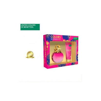 Picture of United Colors of Benetton Colors De Benetton Pink Set for Women (Eau De Toilette 80ml + Body Lotion 75ml)