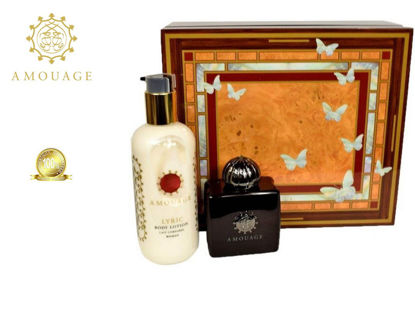 Picture of Amouage Lyric Ladies Edp 100Ml+300Ml Bl Marquetry Box