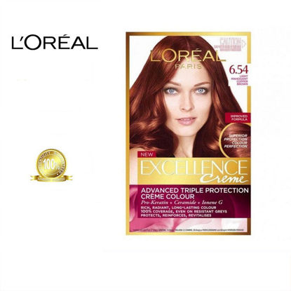 Picture of L'oreal Excellence Creme Colour 6.54 Dark Mahogany Copper Blonde