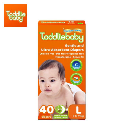 Picture of Toddliebaby Gentle Touch Diapers Size L - 40 pcs x 1 pack